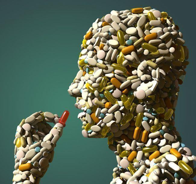 Head made from Pills